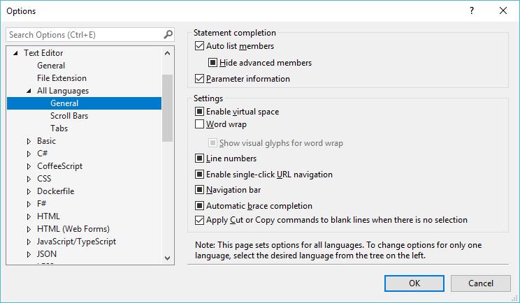 C# Visual Studio Editor - Text Editor