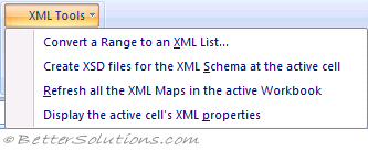 Excel Add-ins - XML Tools