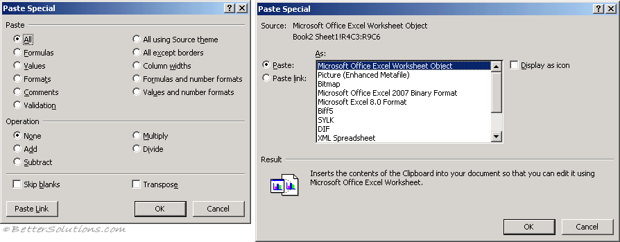 Excel Error Message Cannot Paste The Data