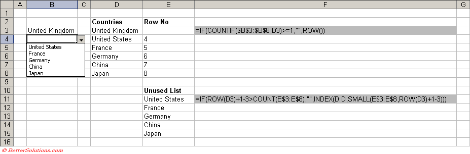 Excel Data Validation - Duplicate Entries