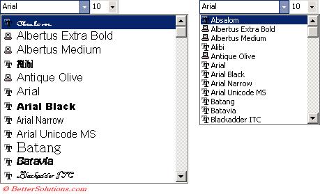 Excel Formatting - Font Color Toolbar