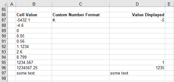 Excel Formatting - Custom