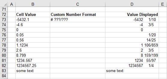 Excel Formatting - Custom