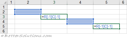 Excel Formulas - A1 or R1C1 Notation