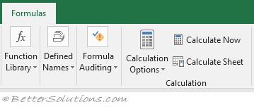 Excel Formulas - Calculation