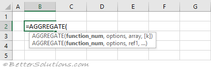 Excel Functions AGGREGATE