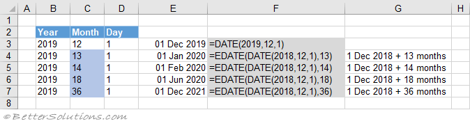Excel Functions DATE