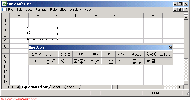 how to add equation in excel