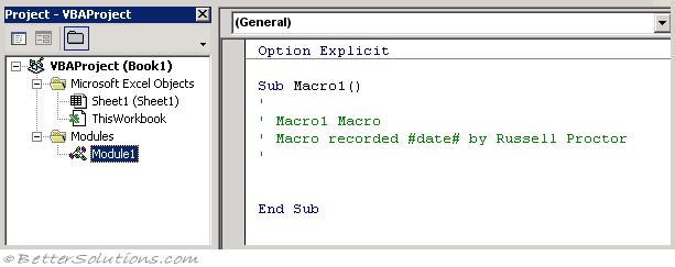 microsoft office excel macros