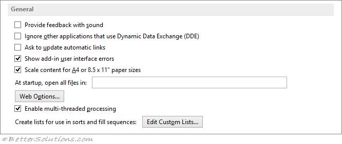 Excel Workbooks - Startup Folders