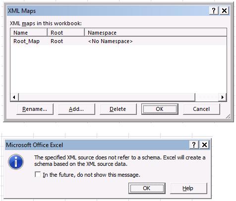 Excel XML - XML Maps
