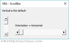 VBA Controls - ScrollBar