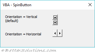 VBA Controls - SpinButton
