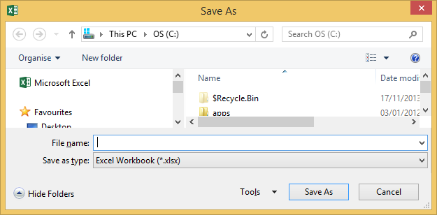 VBA Files & Directories - SaveAs