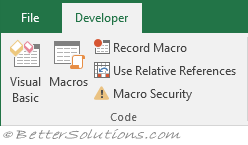 microsoft office excel needs vba macro language support