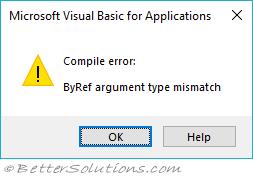 VBA Macros - Error Examples