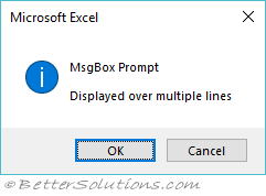 How to use a vba message box [msgbox function] in excel + examples.