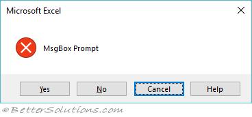 VBA MsgBox & InputBox - MsgBox Examples
