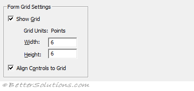 VBA Visual Basic Editor - General Tab